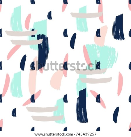 Hand Drawn Abstract Artistic Freehand Modern Print Pattern . Seamless Contemporary Illustration  #745439257