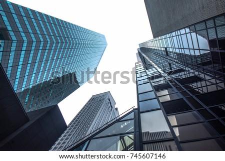 New york business center downtown skyscraper building view. New York city USA #745607146