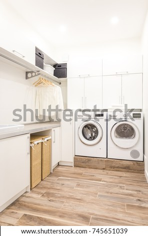 Modern laundry room #745651039