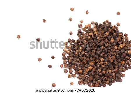 Peppercorns isolated on a white background #74572828
