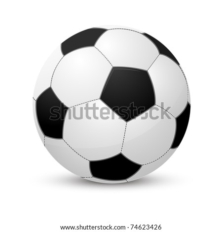 Soccer ball isolated on white #74623426