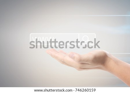 Social networking scheme from the hands #746260159