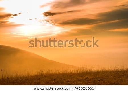 Fog landscape #746526655
