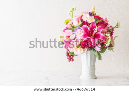 beautiful bouquet flower in vase #746696314