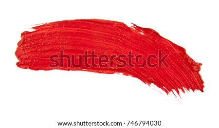 smears of red paint isolated on white background #746794030