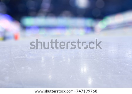 BLURRED ICE HOCKEY STADIUM