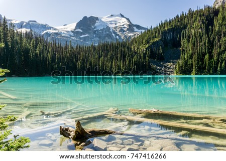 Joffre Lake in British Columbia, Canada at day time #747416266