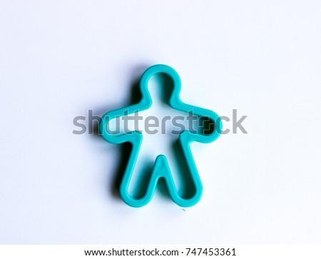 Plastic blue man #747453361