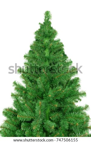 Christmas Tree isolated on white background #747506155
