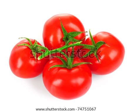Cherry tomatoes isolated on white #74751067