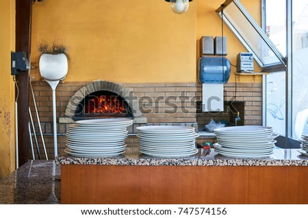 wood-burning oven for cooking pizza #747574156
