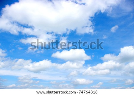 white clouds #74764318