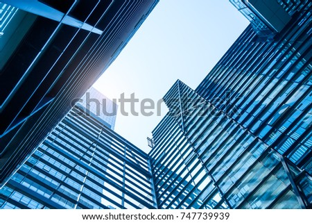 Architecture details Modern Building Glass facade Business background #747739939