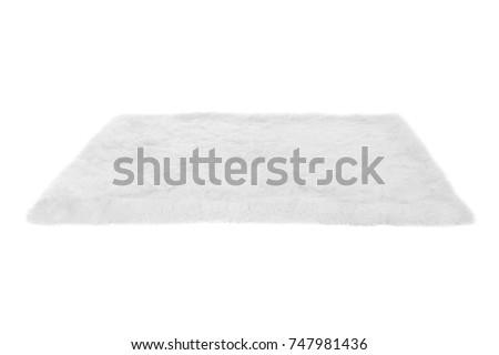 Furry carpet. Isolated on white Royalty-Free Stock Photo #747981436