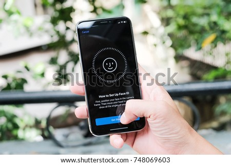 November 04th 2017, Ho Chi Minh city: Review iPhone X #748069603