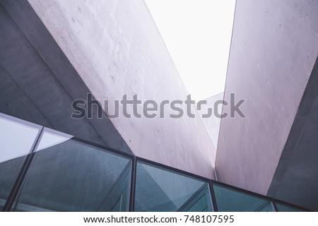 modern architectural detail #748107595