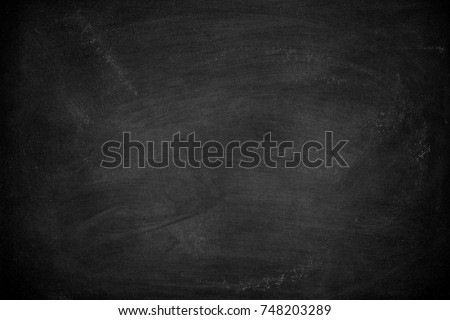 Abstract Chalk rubbed out on blackboard or chalkboard texture. clean school board for background or copy space for add text message.  #748203289
