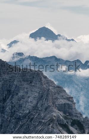 The highest peak in Julian Alps (Slovenia) #748289149