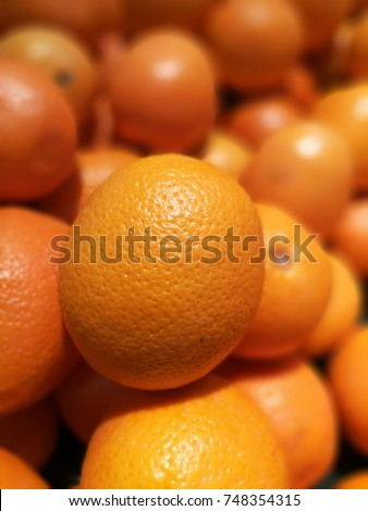 Orange is sweet, sour and sweet. It is a fruit useful. High Vitamin C #748354315