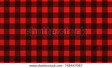 Red Checkered Fabric Background Texture