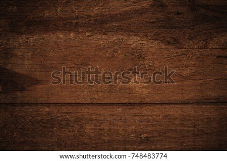 Old grunge dark textured wooden background,The surface of the old brown wood texture #748483774