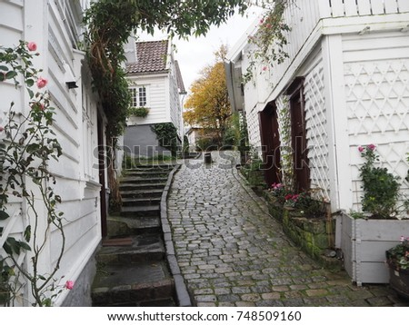 Stavanger Norway old city street #748509160