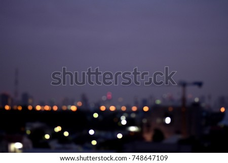 abstract blurred bokeh Night city  #748647109