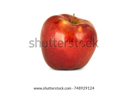 isolate on white background composition with several ripe apples #748929124
