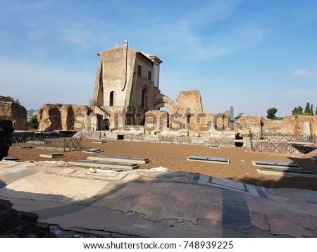 Palatine Hill in Rome #748939225