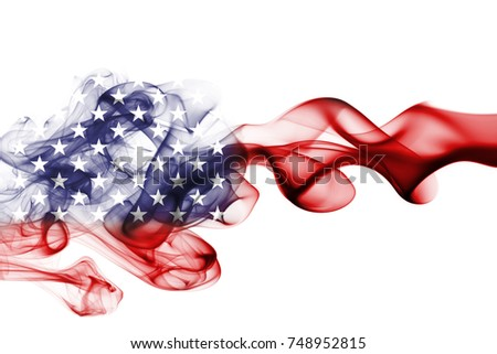 United States flag smoke, US flag #748952815