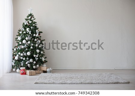 Christmas tree with presents new year decor