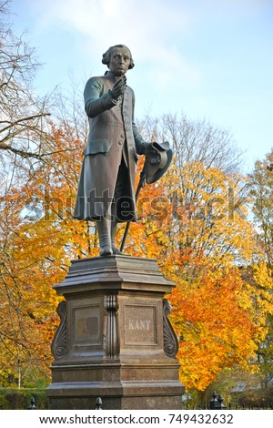 Monument to Immanuel Kant in autumn. Kaliningrad #749432632