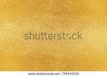 Shiny yellow leaf gold foil texture background #749441410