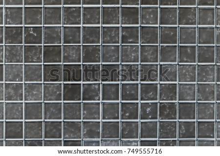 Outdoor black square block tile wall background and texture high resolution #749555716
