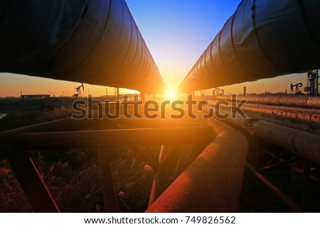 Oil pipeline, industrial equipment #749826562
