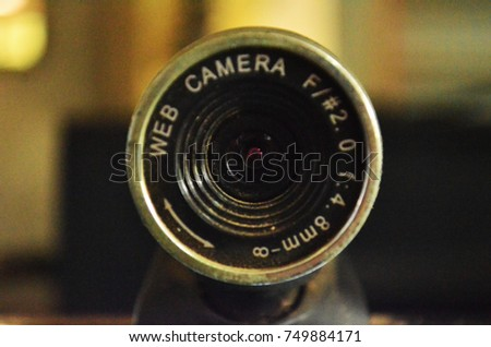Old Web Camera. Used Web Camera. Web Camera Len. #749884171