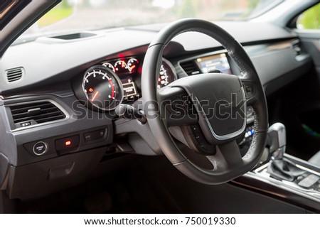 Interior of the car, steering wheel #750019330