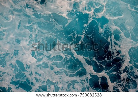 Deep and turbulent oceanic water masterpiece #750082528