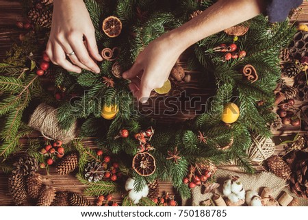 Nature wreath making #750188785