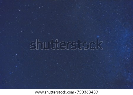 Milky way stars photographed with wide-angle lens. My astronomy work. #750363439