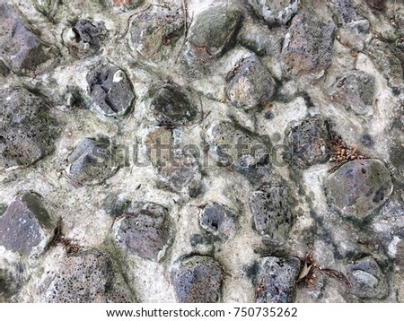 Stone wall texture background design #750735262