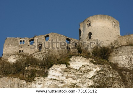The castle of Chateau Gaillard in Normandy #75105112