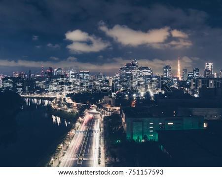 Tokyo cityscape. Japan #751157593