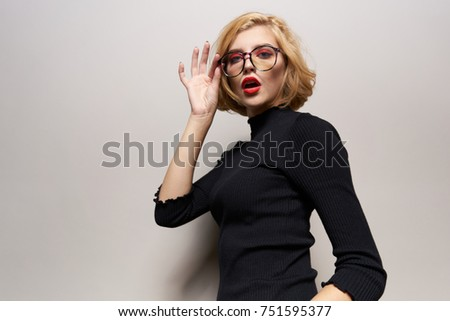 young woman on a light background                                #751595377