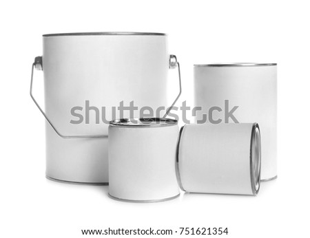 Paint cans, isolated on white #751621354