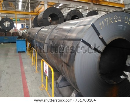 Hot Rolled steel sheet, slitting coil, in factory warehouse #751700104