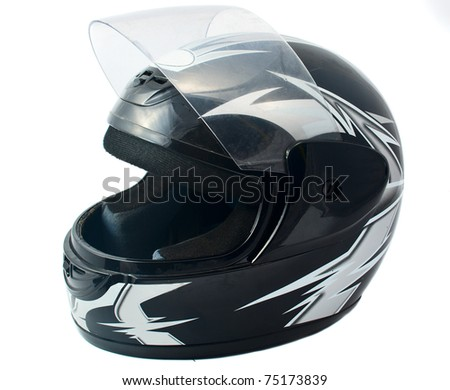 motorcycle helmet on a white background Royalty-Free Stock Photo #75173839
