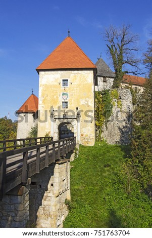 Old Castle Ozalj  in the town of Ozalj, Croatia  #751763704