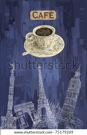 Cafe theme background