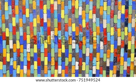 Colorful ceramic wall, color background. #751949524